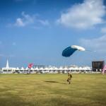 Diver Parachute Landing